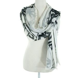 Accessories - Long Sheer Bamboo Print Scarf
